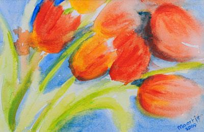 tulpen-acryl-20x30cm