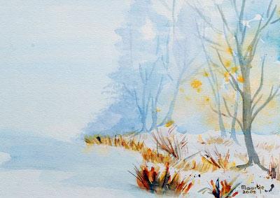 winter-aquarel-40x50cm
