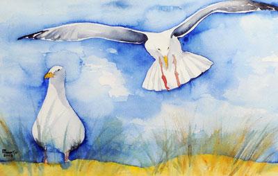 zeemeeuwen-aquarel-verkocht